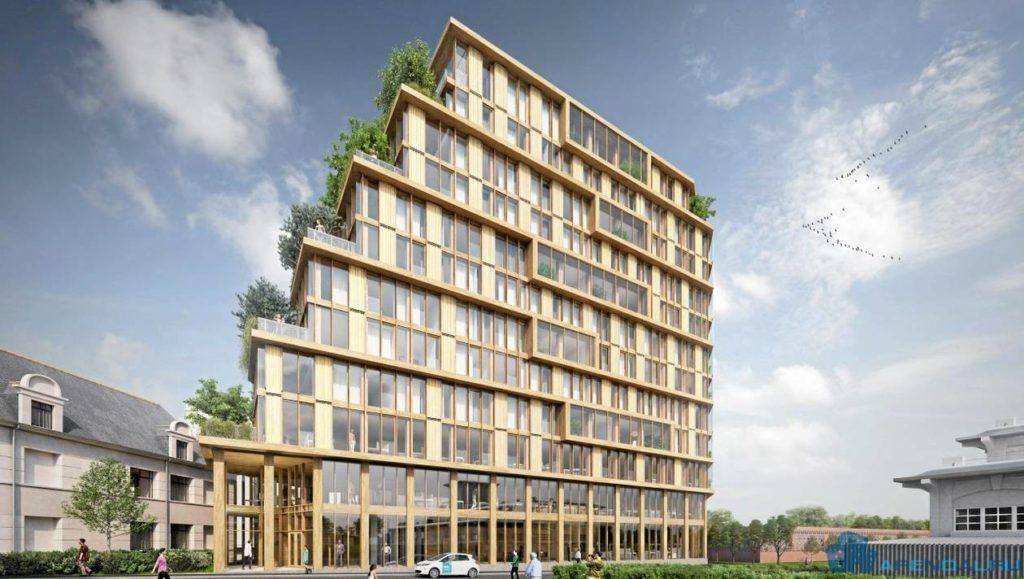 В Ренне построят самое высокое деревянное здание